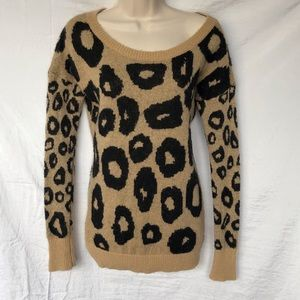 Express Leopard Print Sweater Size Small